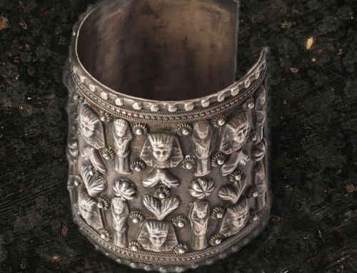 Silver bracelet manchette 'Egypt'620€