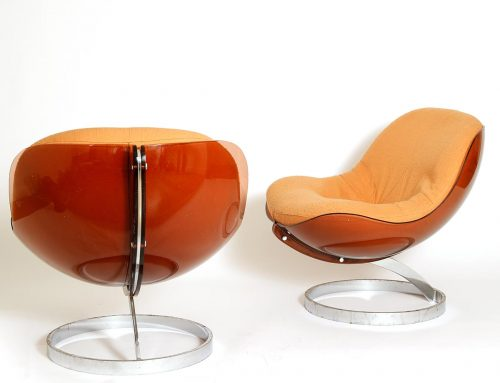 Pair of armchairs 'Sphere' byBoris TabacoffSOLD