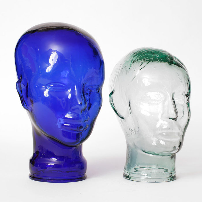 glass head sculptures